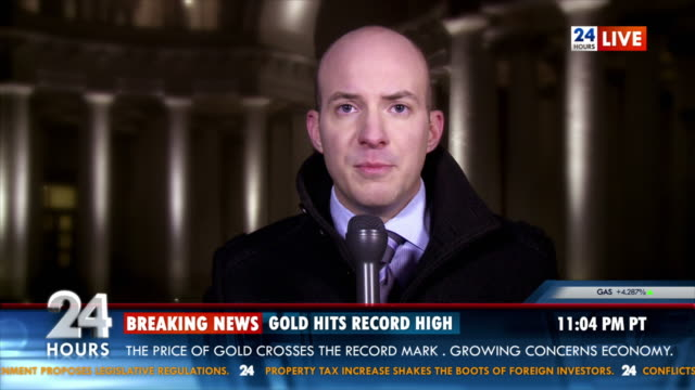 HD: Financial Reporter Bringing Market Trends In News