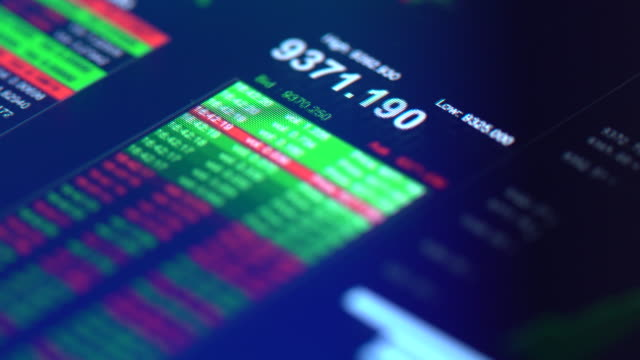 financial trading chart at digital display close-up - blockchain stock videos & royalty-free footage