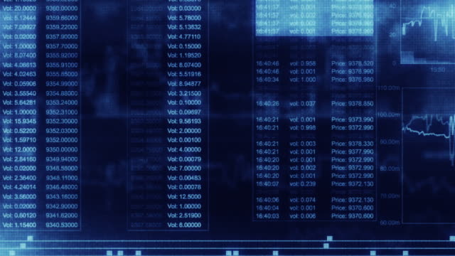 financial trading chart at digital display - transfer stock videos and b-roll footage