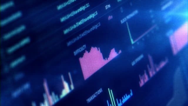 financial trading chart at digital display - liquid crystal display stock videos and b-roll footage