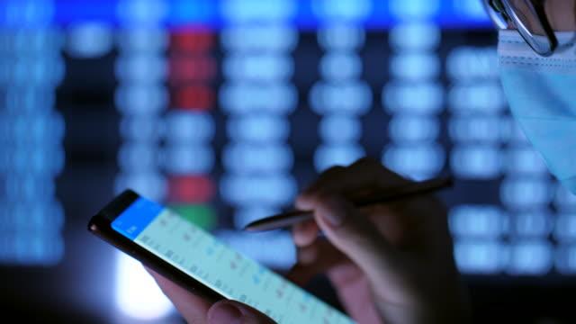vídeos y material grabado en eventos de stock de concepto de crisis financiera con covid-19 - pronosticar