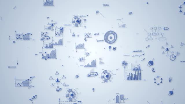finansal veri ve grafikle loop - report stock videos & royalty-free footage