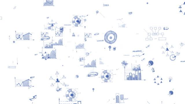 finansal veri ve grafikle schleife - liniendiagramm stock-videos und b-roll-filmmaterial