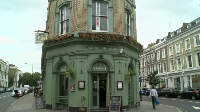 finborough theatre saved from developers england london west brompton ext general views of finborough arms pub with finborough theatre above - itv london tonight weekend点の映像素材/bロール