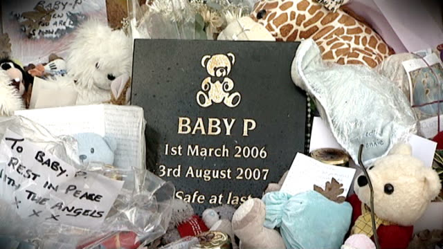 ext memorial plaque to baby p - memorial plaque stock videos and b-roll footage