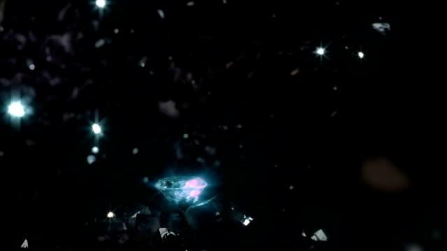 vidéos et rushes de trouver diamant brillant léger - mineur de charbon