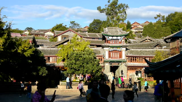 Find Similar Get a Comp Save to Lightbox Lijiang old town with crowd tourist, China.