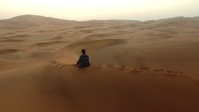 finding peace in the quiet of the desert - namibian desert stock videos and b-roll footage