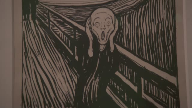 New exhibition suggests Edvard Munch's 'The Scream' may not actually be screaming at all ENGLAND London British Museum INT Colour print of The Scream...