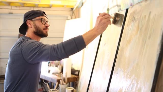 fine art painter - 画家点の映像素材/bロール