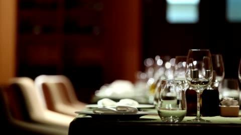 fine dining restaurant set - luxury stock videos & royalty-free footage