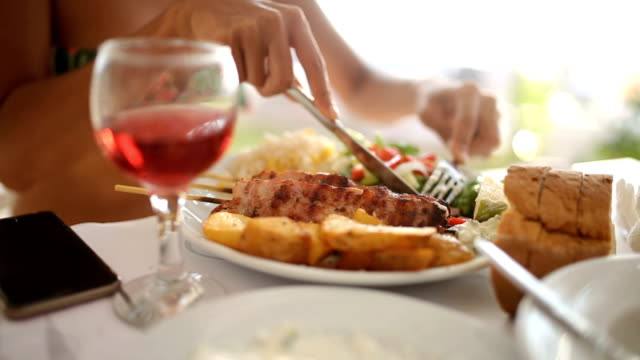 fine dining - greek food stock videos & royalty-free footage