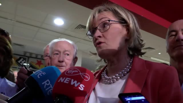 fine gael's mairead mcguinness has taken the first seat in the midlands northwest constituency. the incumbent mep topped the poll with 134,630 first... - mep stock videos & royalty-free footage