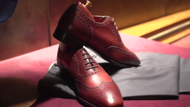 fine men's clothing - shoes - footwear stock videos & royalty-free footage