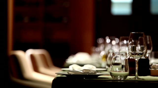 fine restaurant set - dining stock videos & royalty-free footage