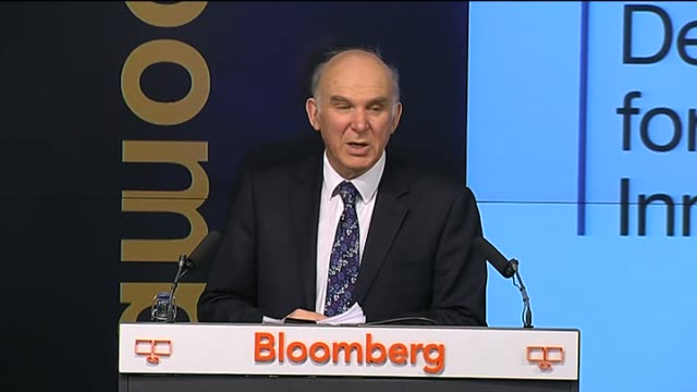 vídeos de stock, filmes e b-roll de fined 390 million pounds for libor rate fixing: cable speech on banking; england: london: bloomberg: int vince cable mp speech sot - 5 years ago we... - cable