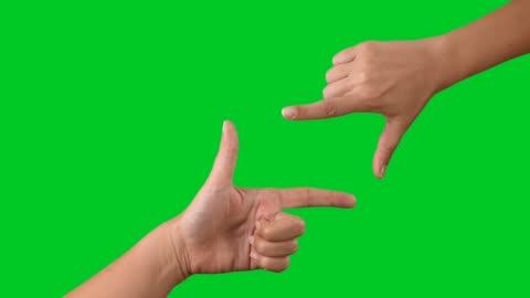 stockvideo's en b-roll-footage met 4k vinger frame touchscreen op chromakey - fotografische thema's