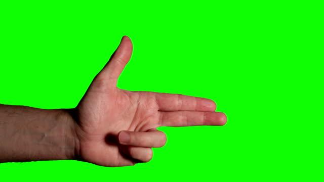 Finger Gun Shooting - HD