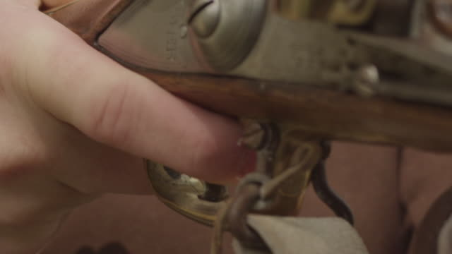finger on trigger of musket - trigger stock videos & royalty-free footage