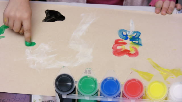 finger painting (hd) - finger painting stock videos and b-roll footage