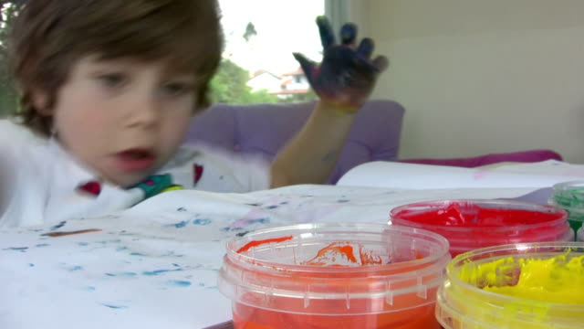 finger painting - finger painting stock videos and b-roll footage