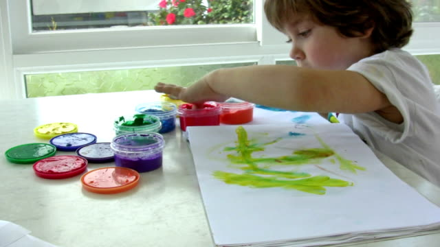 finger painting. - finger painting stock videos and b-roll footage