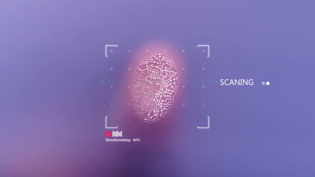 finger print scanner - fühler stock-videos und b-roll-filmmaterial