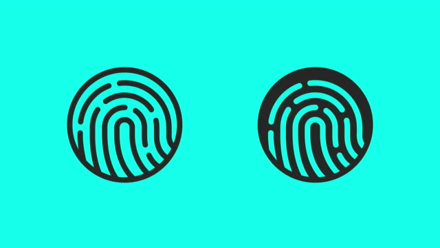 finger scan icons - vector animate - pushing stock videos & royalty-free footage