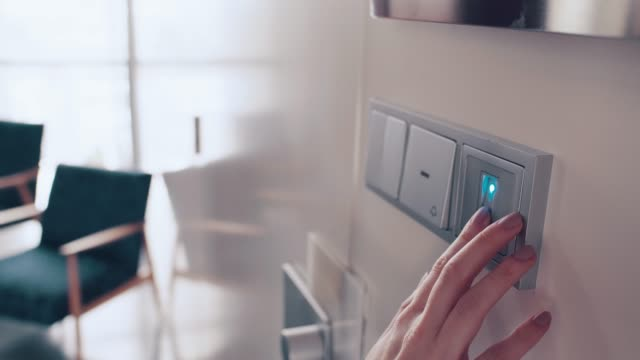 finger scanning on the security scanner - fingerprint stock videos & royalty-free footage
