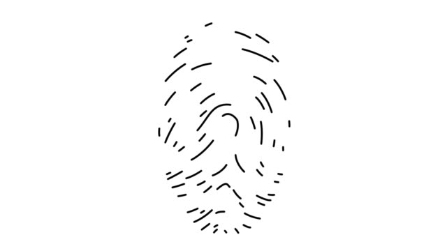 fingerabdruckanalyse linie icon animation - fingerabdruck stock-videos und b-roll-filmmaterial