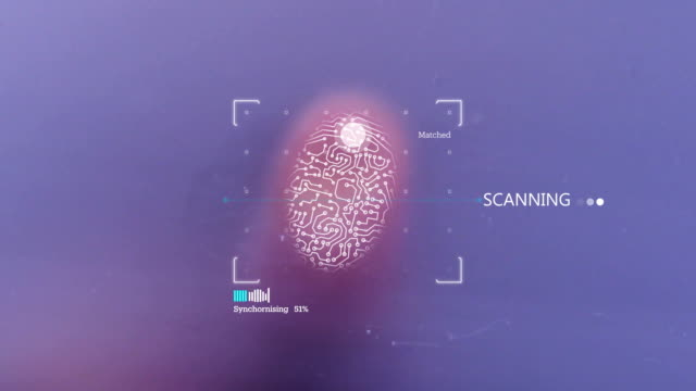 4k fingerprint identification access denied - encryption stock videos & royalty-free footage