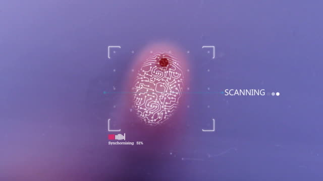 4 k 指紋識別アクセスが拒否されました - 指紋点の映像素材/bロール