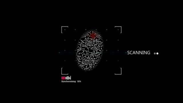 4k fingerprint identification access denied - password stock videos & royalty-free footage