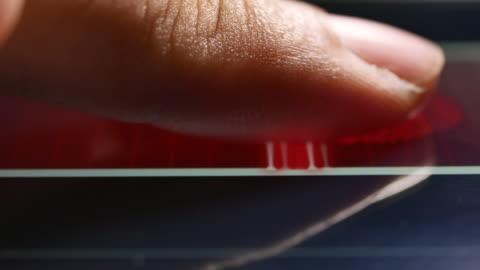 fingerprint identification, close-up - password stock videos & royalty-free footage