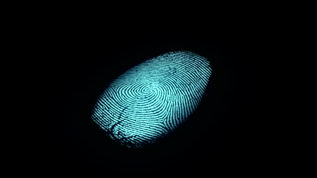 stockvideo's en b-roll-footage met fingerprint identification - identity