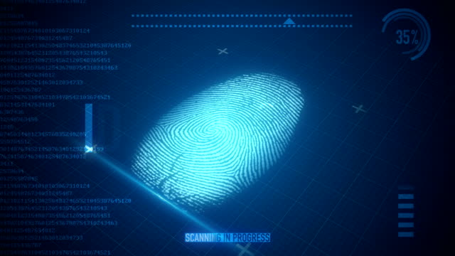 fingerprint scan - identity stock videos and b-roll footage