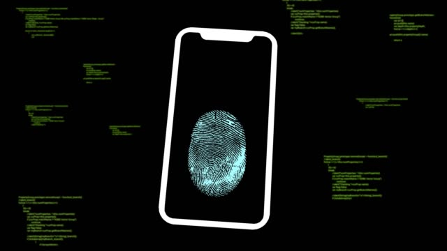 fingerabdruck-smartphone - fühler stock-videos und b-roll-filmmaterial