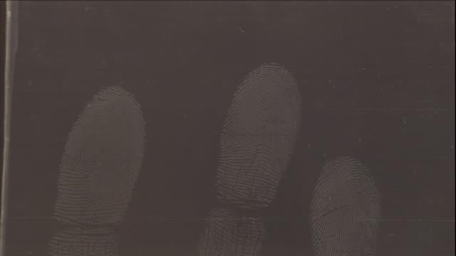 fingerprints leave a clear mark on a translucent surface. - fingerprint stock videos & royalty-free footage