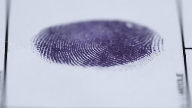 fingerprints - finger stock videos & royalty-free footage