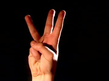vídeos y material grabado en eventos de stock de 3, 2,1, dedos de cuenta atrás - dedo