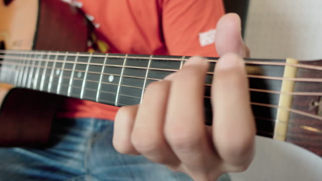 fingerstyle guitarist - fretboard stock videos and b-roll footage