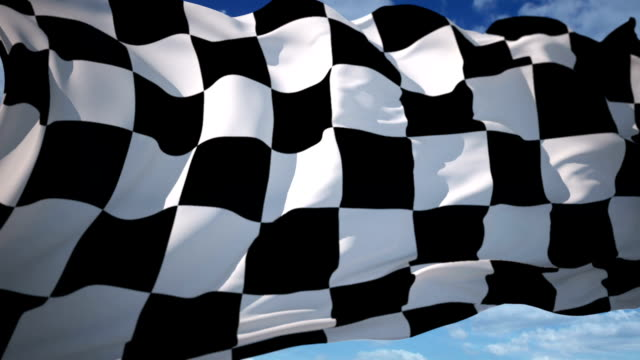 finish flag - sports race stock videos & royalty-free footage