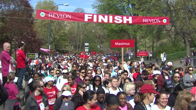Finish Line at the 14th Annual Entertainment Industry Foundation Revlon Run/Walk For Women at New York NY