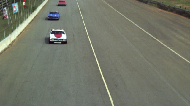 MS TD PAN Finish line of stock car race