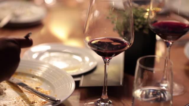 finishing a fancy meal - eaten stock videos & royalty-free footage