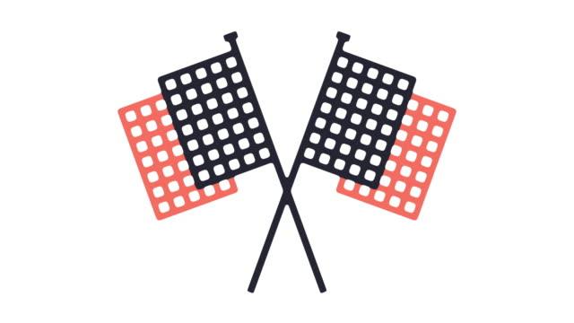 仕上げのアイコン アニメーション - バナー看板点の映像素材/bロール
