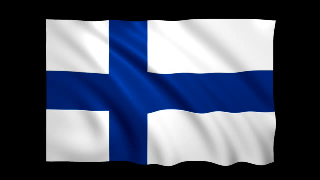 Finland Flag Loopable alpha included - Stock video