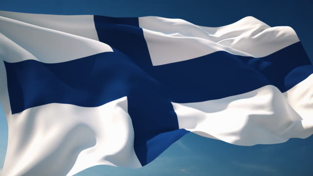 stockvideo's en b-roll-footage met 4k finland flag - loopbare - finland