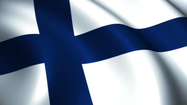 stockvideo's en b-roll-footage met vlag van finland loopbare - finland