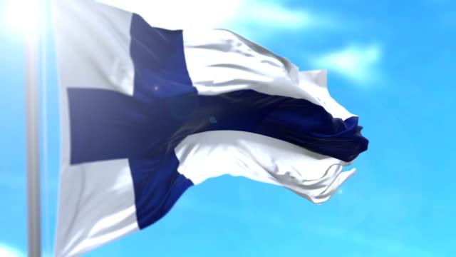 stockvideo's en b-roll-footage met vlag van finland - nationale vlag